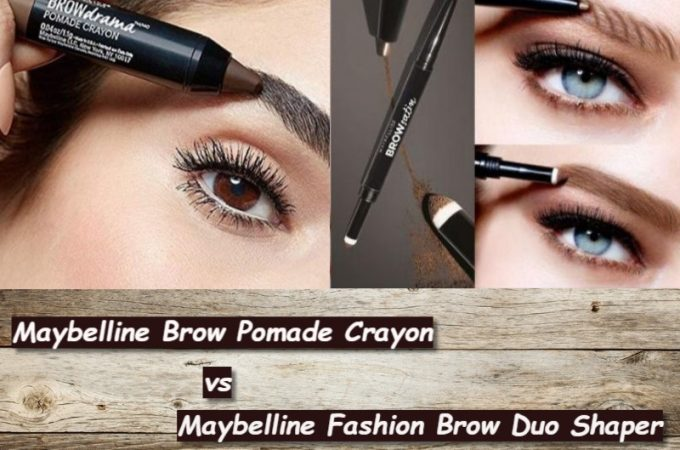 Maybelline Brow Pomade Crayon vs Brow Duo Shaper